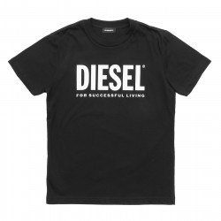 Diesel Black Cotton Logo T-Shirt