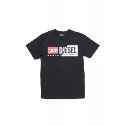 Diesel Black Cotton Logo T-Shirt