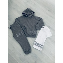 Moschino grey tracksuit with top