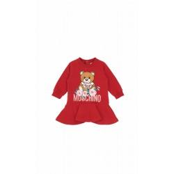 Moschino red teddy bear dress