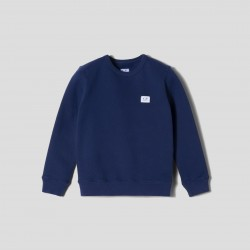 CP Company Denim Blue Small logo Sweater