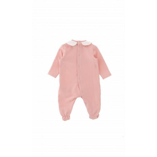 Moschino pink baby grow