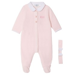 Hugo Boss pale pink pyjamas and headband