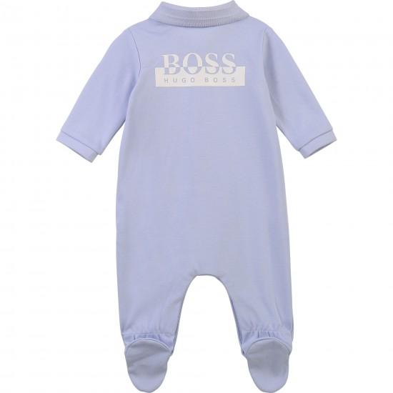 Hugo Boss pale blue babygrow