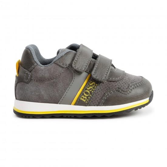 Hugo Boss grey trainers