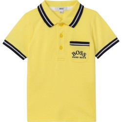 Hugo Boss yellow polo top
