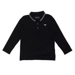 Emporio Armani black polo top