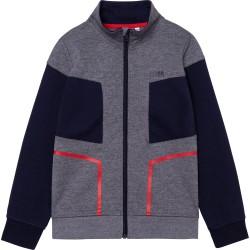 Hugo Boss grey marl zip up top