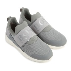Hugo Boss grey trainers