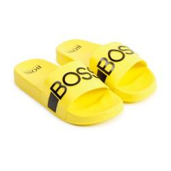 Hugo Boss yellow logo sliders