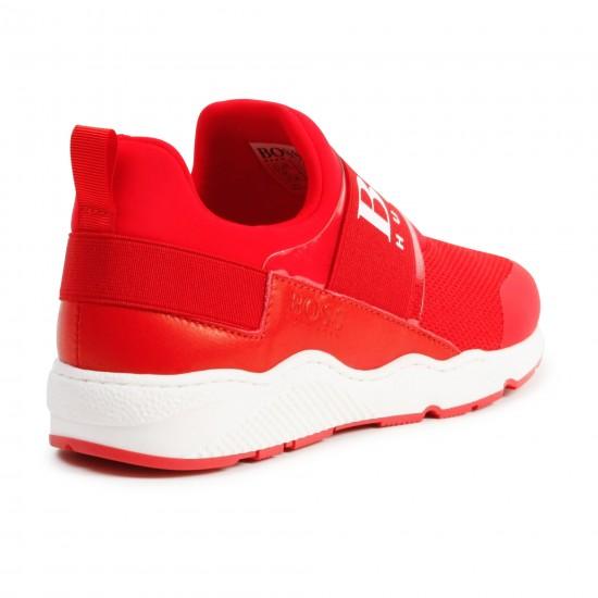 Hugo Boss red trainers