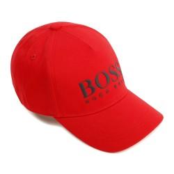 Hugo Boss bright red cap