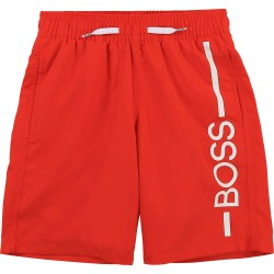 Hugo Boss bright red shorts