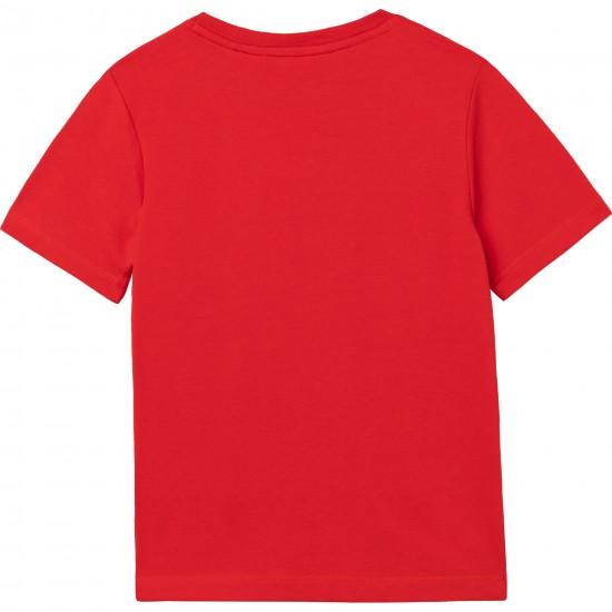 Hugo Boss red logo t-shirt