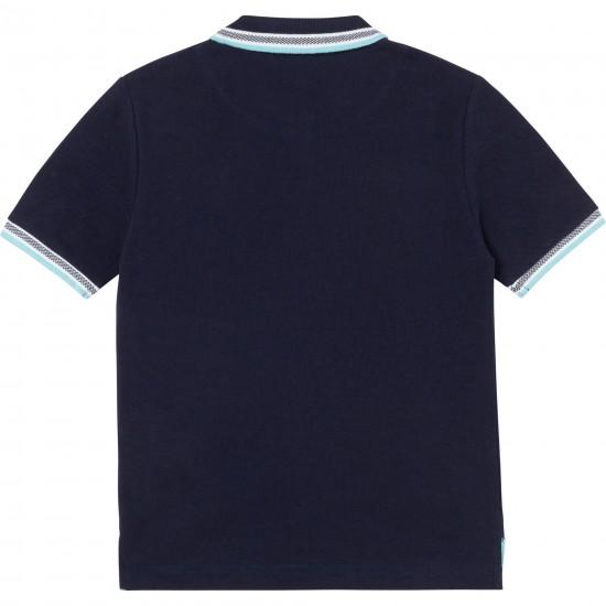 Hugo Boss navy blue polo top