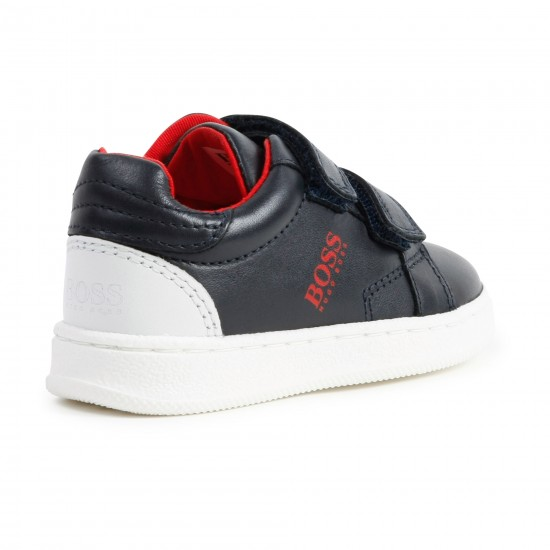 Hugo Boss navy blue trainers