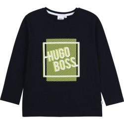 Hugo Boss navy blue long sleeve top