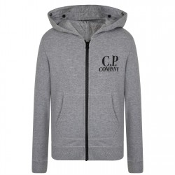 CP Company grey zip up hooded top