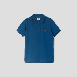 CP Company blue polo top