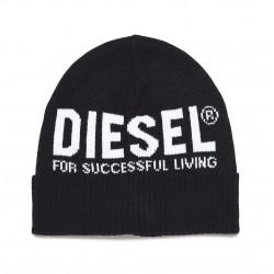 Diesel black beanie hat