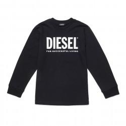 Diesel black long sleeve top