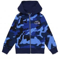 Diesel blue hooded zip up top