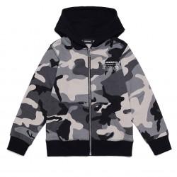 Diesel grey hooded zip up top