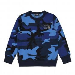 Diesel blue camouflage sweater