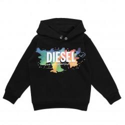 Diesel black hooded sweatshirt