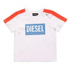Diesel white logo t-shirt