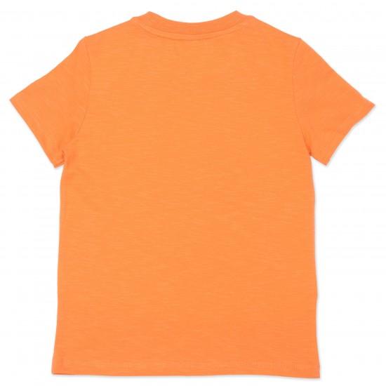 Kenzo orange logo t-shirt