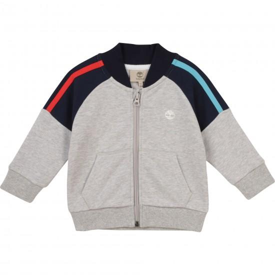 Timberland grey zip-up top
