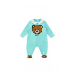 Moschino blue teddy baby grow