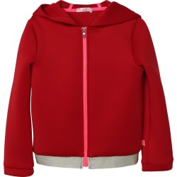 Billieblush red zip up hoodie