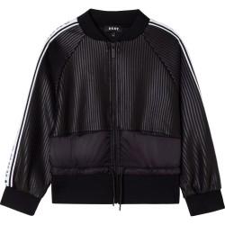 DKNY black zip up top
