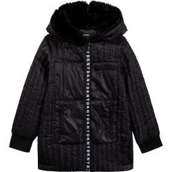 DKNY black hooded parka