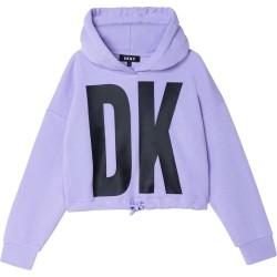 DKNY lilac hooded sweatshirt