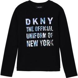 DKNY black long sleeve top