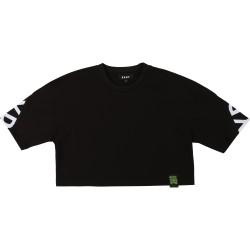 DKNY black crop top