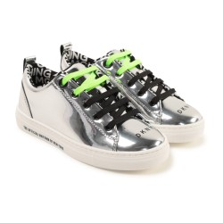 DKNY silver trainers