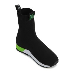 DKNY black trainer boots