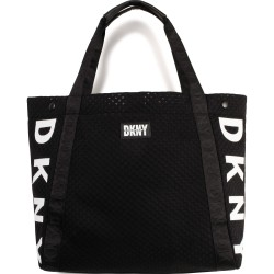 DKNY black shopper bag