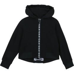 DKNY black zip-up hoodie