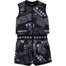 DKNY black and white playsuit
