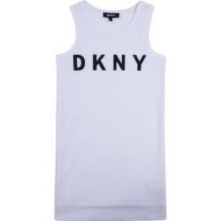 DKNY white sleeveless dress