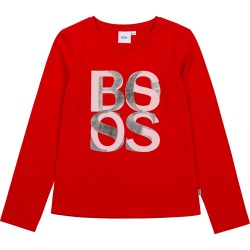Hugo Boss red long sleeve t-shirt