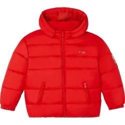 Hugo Boss bright red puffer jacket