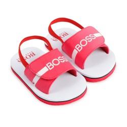 Hugo Boss red sandal