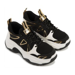 Hugo Boss black gold trainers