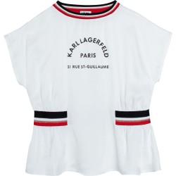 Karl Lagerfeld white top